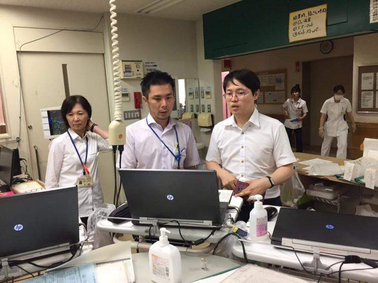 埼玉西協同病院では医事システムについても説明をしてくれました